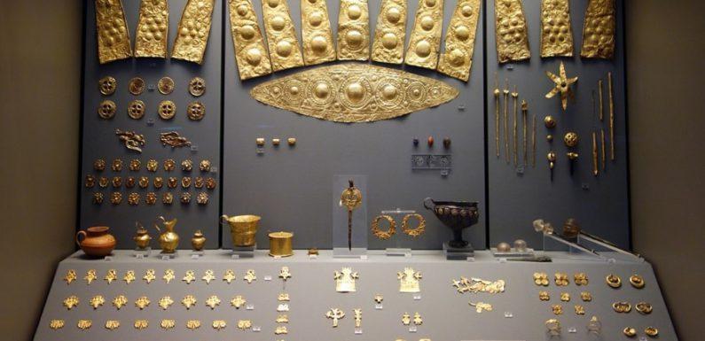 Сокровища Микены и маска царя Агамемнона