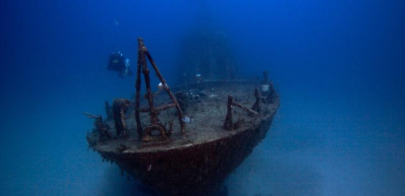 Кладбище кораблей на дне залива Кадиса