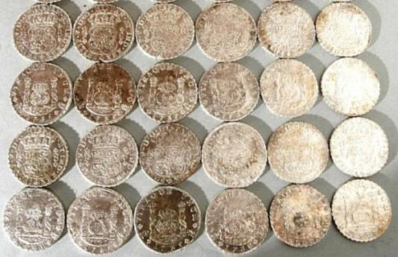 Недалеко от британского порта Дувр найден клад серебряных монет