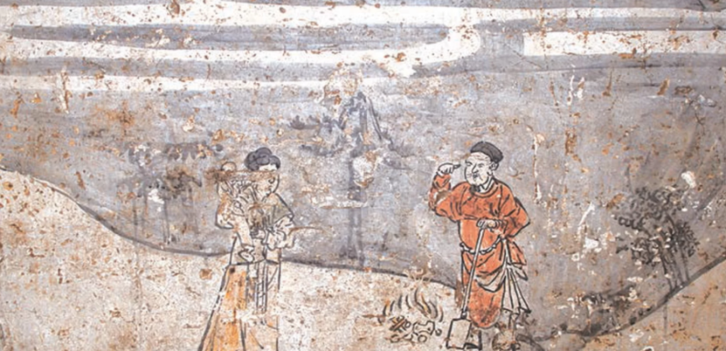 В Китае обнаружена 8-угольная гробница с 700-летними фресками