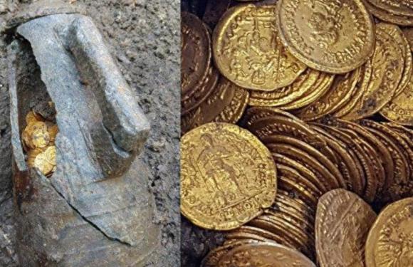 В Италии нашли амфору с золотыми монетами времен Римской империи