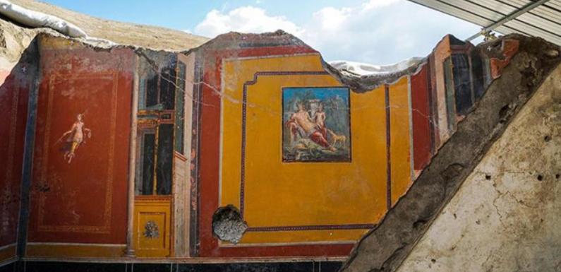 В Помпеях археологи нашли фреску с изображением Нарцисса