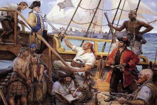 Пленные на борту судна Левассёра