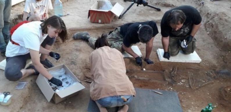 Под Смоленском найдено захоронение воина с оружием и фрагментом арабской монеты