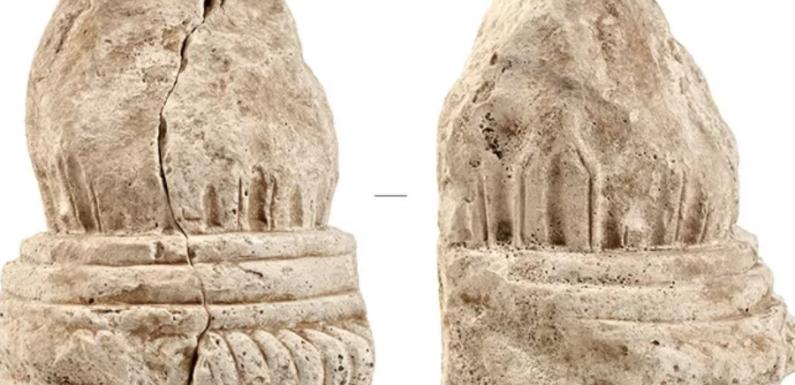 В СВАО найден фрагмент колонны и фигурка из бивня мамонта