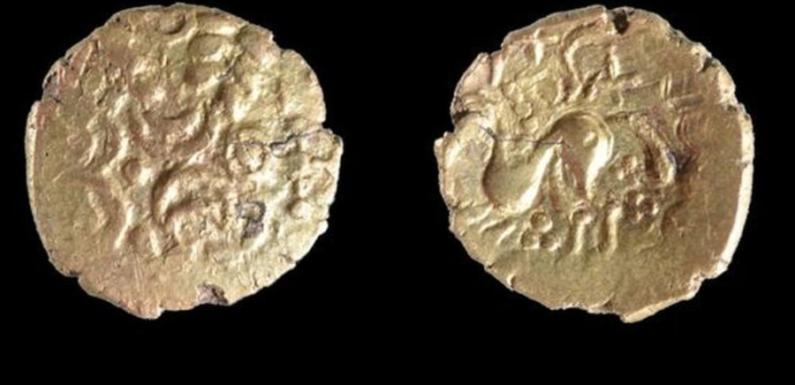 В Великобритании найден клад, включающий уникальную монету
