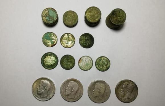 В Краснодаре найден клад серебряных монет времен Николая II